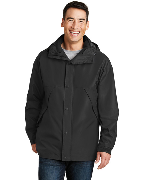 Port Authority J777 Men 3 In 1 Jacket Black/Black at bigntallapparel
