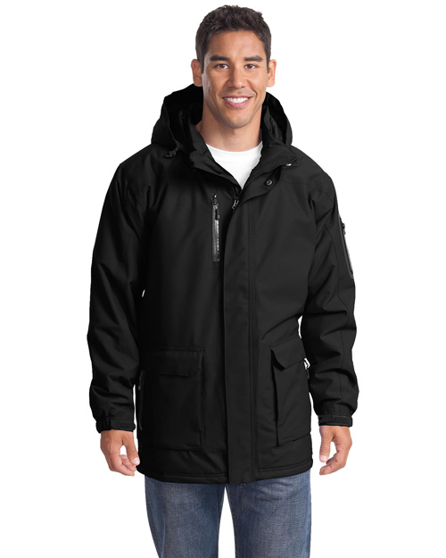 Port Authority J799 Mens Heavy Weight Parka Black at bigntallapparel