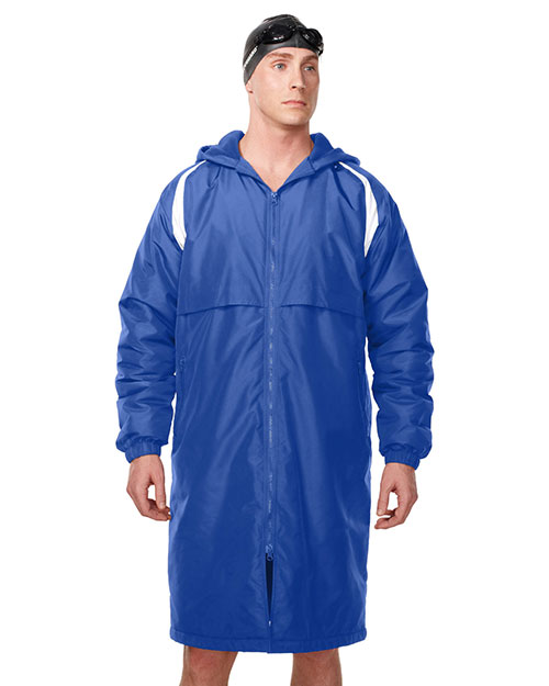 Tri-Mountain J9950 Men's 100% nylon Taslon coat with poly fleece lining IMPERIAL BLUE/WHITE at bigntallapparel