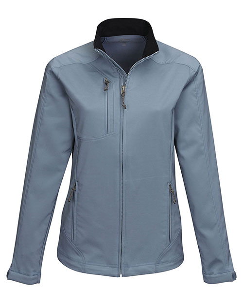 Tri-Mountain JL6205 Women's 96% polyester 4% Spandex Dobby Full zip jacket SLATE BLUE at bigntallapparel