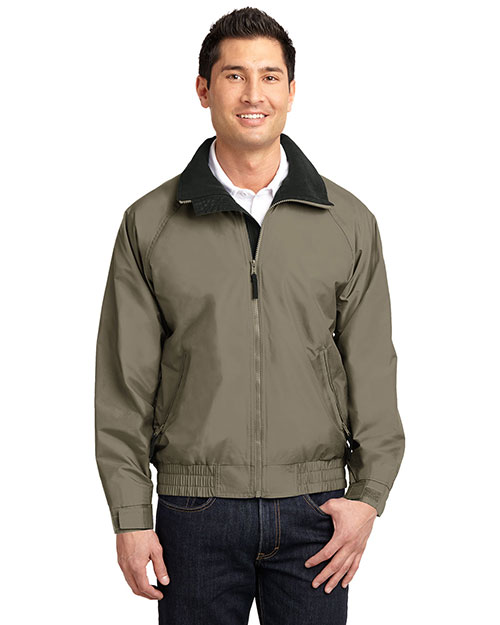 Port Authority JP54 Mens Competitor Jacket Sand Dune/Black at bigntallapparel