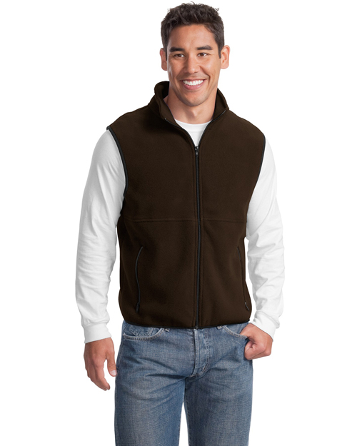 Port Authority JP79 Mens R-Tek Fleece Vest BROWN at bigntallapparel