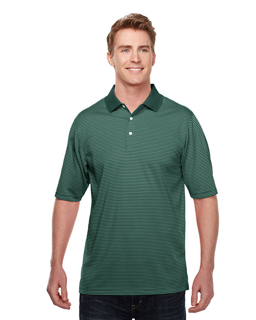 Men 39 s 100 polyester y d stripe polo shirt for Men s polyester polo shirts