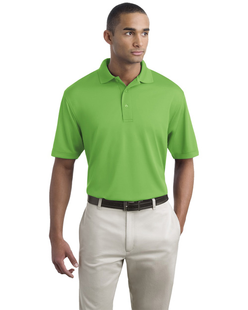 Port Authority K497 Mens Bamboo Pique Polo Sport Shirt Vibrant Green at bigntallapparel