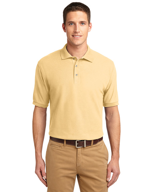 Port Authority K500ES Men Extended Sized Silk Touch Polo Sport Shirt Banana at bigntallapparel