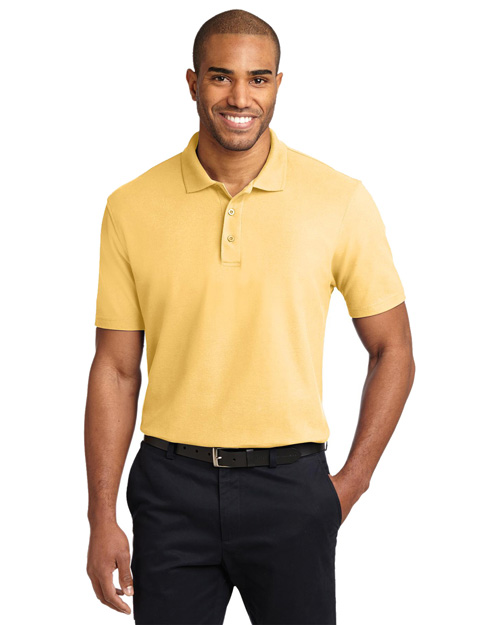 Port Authority K510 Mens Stain-Resistant Sport Shirt Banana at bigntallapparel