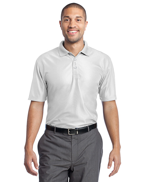 Port Authority K512 Performance Vertical Pique Polo.  White at bigntallapparel