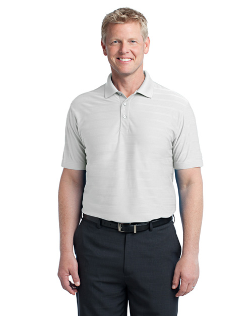 Port Authority K514 Horizonal Texture Polo.  White at bigntallapparel