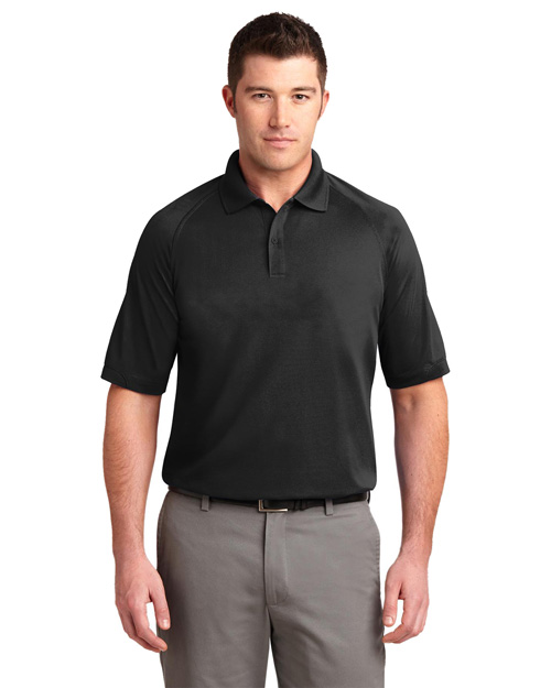 Port Authority K525 Mens Dry Zone Ottoman Polo Sport Shirt Black at bigntallapparel