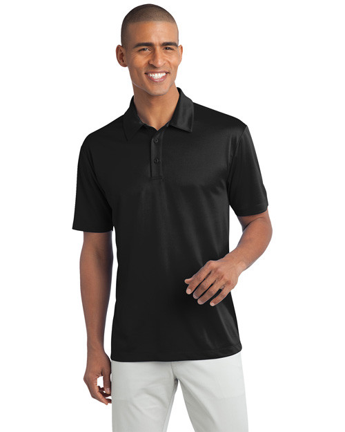 Port Authority K540 Men Silk Touch? Performance Polo Black at bigntallapparel