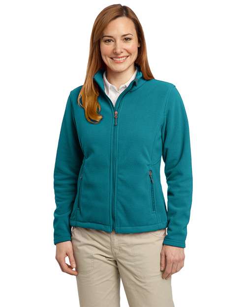 Port Authority L217 Ladies Value Fleece Jacket.  Teal Blue at bigntallapparel