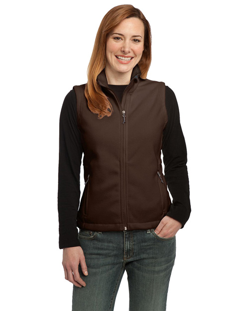 Port Authority L219 Women Value Fleece Vest Dark Chocolate Brown at bigntallapparel