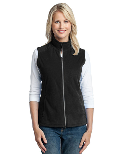 Port Authority L226 Women Microfleece Vest Black at bigntallapparel