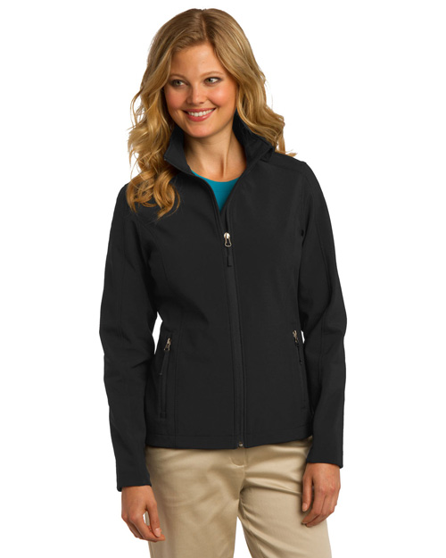 Port Authority L317 ® Ladies Core Soft Shell Jacket.  Black at bigntallapparel