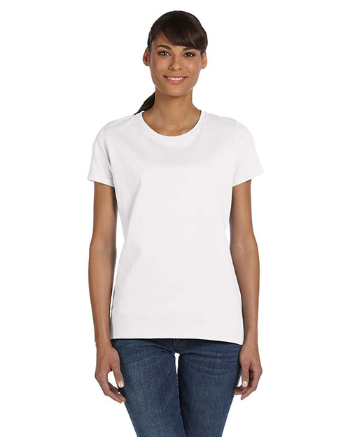Fruit of the Loom L3930R Ladies' 5 oz., 100% Heavy Cotton HD T-Shirt WHITE at bigntallapparel
