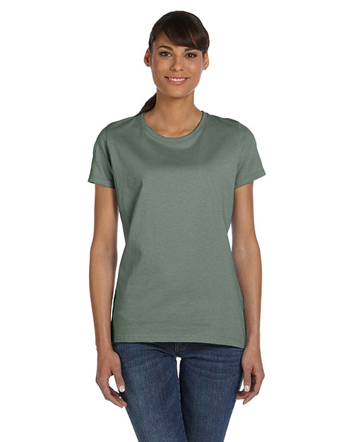 Fruit Of The Loom L3930R Women 5 Oz. 100% Heavy Cotton Hd T-Shirt Sagestone at bigntallapparel
