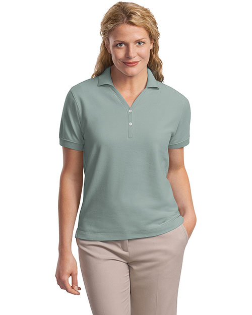Port Authority L448 Ladies 100% Pima Cotton Polo.   Seafoam at bigntallapparel