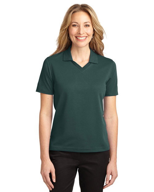 Port Authority L455 Women Rapid Dry Polo Dark Green at bigntallapparel