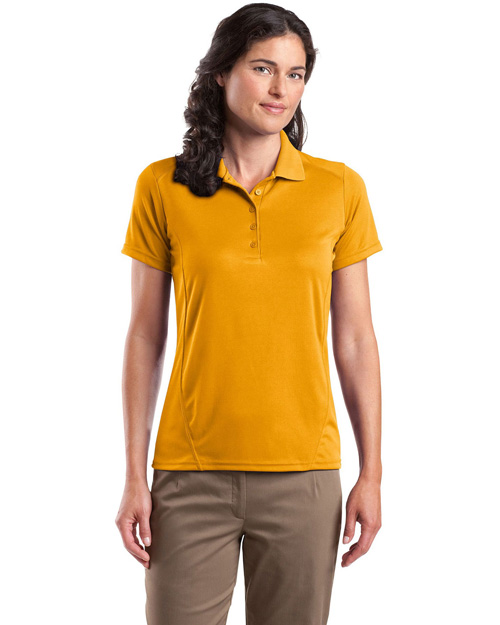 Sport-Tek L475 Ladies Dry Zone™ Raglan Accent Polo.  Gold at bigntallapparel