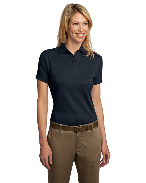 Port Authority L482 Women Pima Select Polo With Pimacool Technology Navy at bigntallapparel