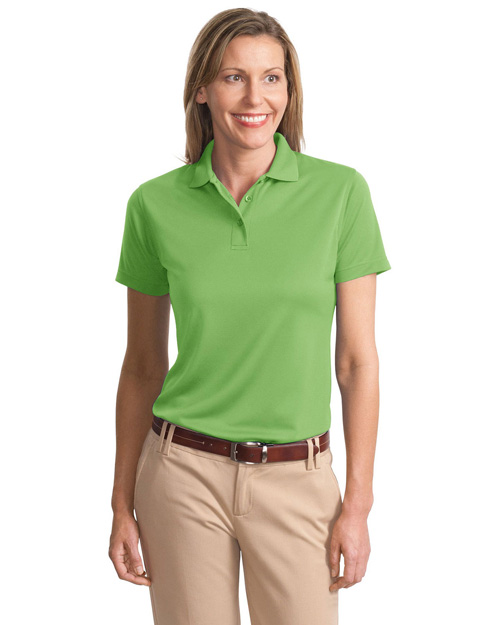 Port Authority L497 Ladies Poly-Bamboo Blend Pique Polo.  Vibrant Green at bigntallapparel