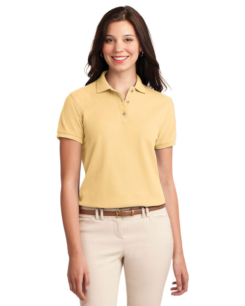 Port Authority L500 Ladies Silk Touch™ Polo.   Banana at bigntallapparel