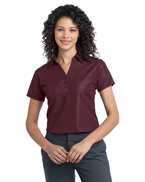 Port Authority L512 Ladies Vertical Pique Polo.  Maroon at bigntallapparel