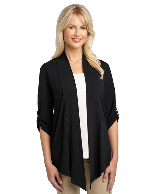 Port Authority L543 Women Concept Shrug Black at bigntallapparel