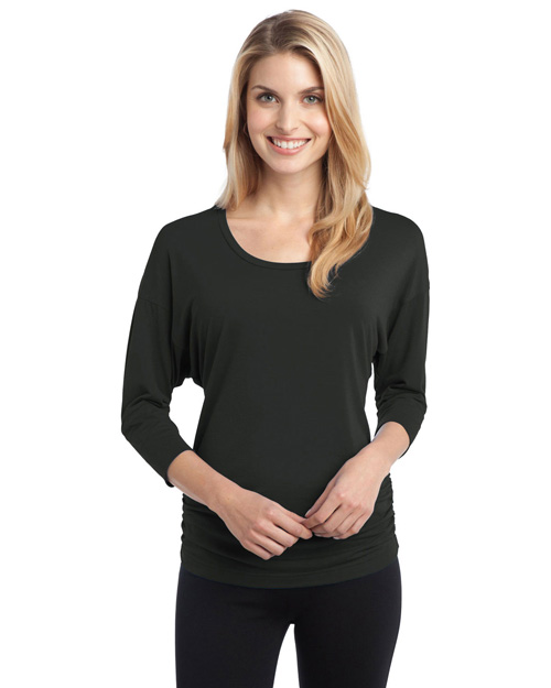 Port Authority L544 ® Ladies Concept Dolman Sleeve Shirt.  Grey Smoke at bigntallapparel