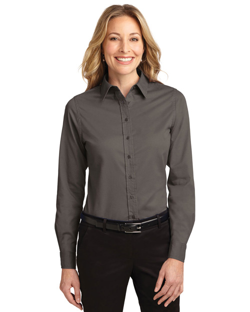 Port Authority L608 Ladies Long Sleeve Easy Care Shirt.   Bark at bigntallapparel