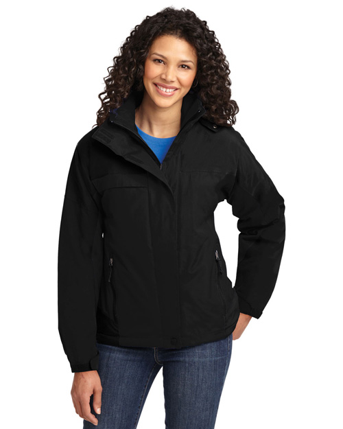 Port Authority L792 Women Nootka Jacket Black/Black at bigntallapparel