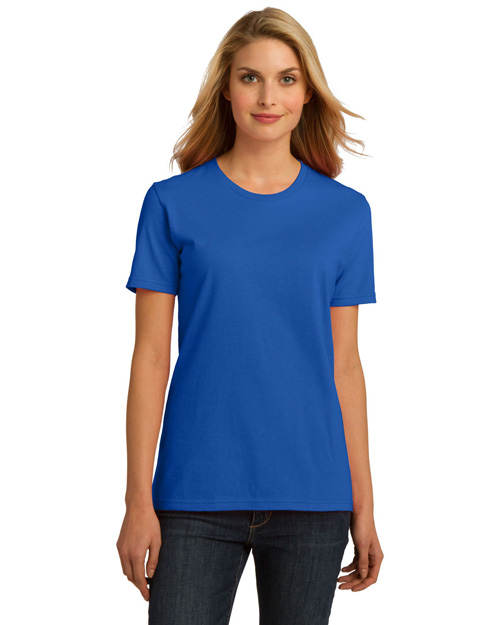 Port & Company LPC150ORG ® Ladies Essential 100% Organic Ring Spun Cotton T-Shirt.  Royal at bigntallapparel