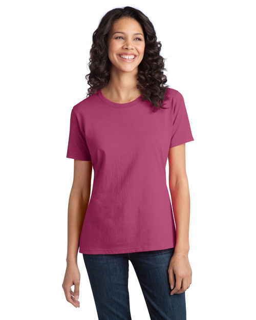 Port & Company LPC150 Women Essential Ring Spun Cotton Tshirt Sangria at bigntallapparel
