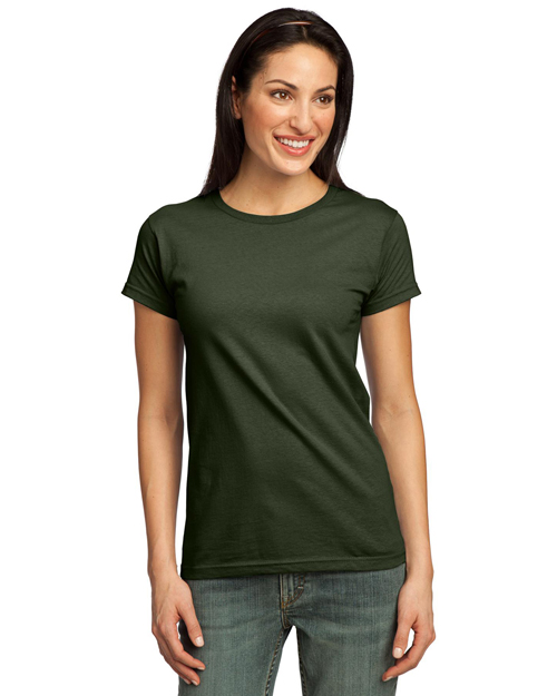 Port & Company LPC50ORG Ladies Organic Cotton T-Shirt.  City Green at bigntallapparel