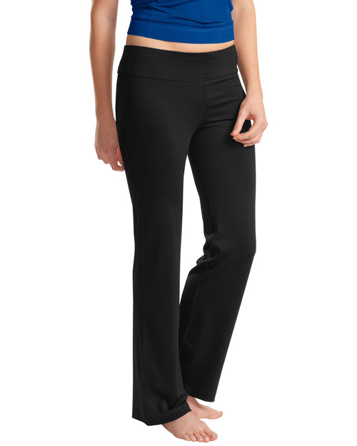 Sport-Tek LPST880 Ladies NRG Fitness Pant.  Black at bigntallapparel
