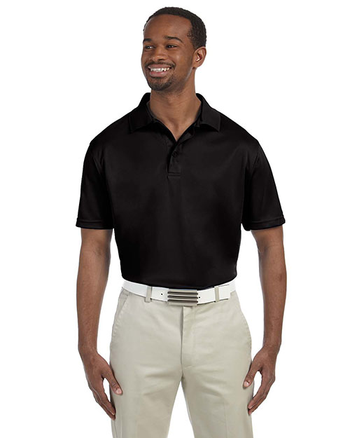 Harriton M315 Mens 4 Oz Polytech Polo Black at bigntallapparel