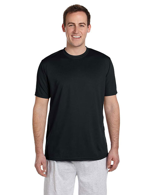Harriton M320 Mens 42 Oz Athletic Sport T Shirt Black at bigntallapparel