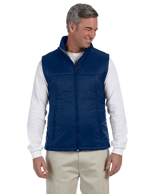 Harriton M795 Men Essential Polyfill Vest New Navy at bigntallapparel