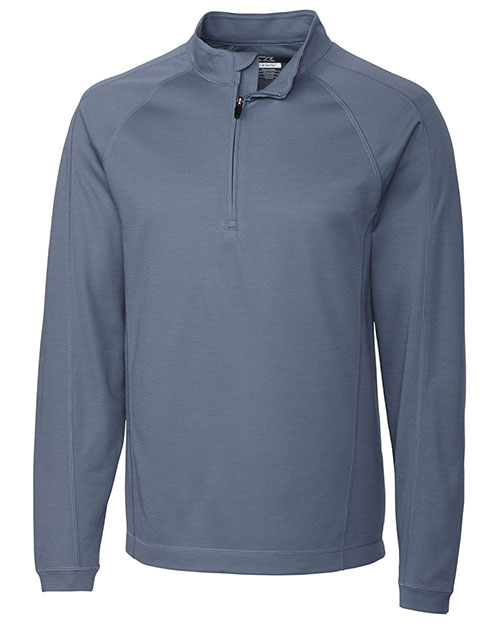 Cutter & Buck MCK00873 Men Nano Cb Drytec Mercer Island Half Zip Locker at bigntallapparel