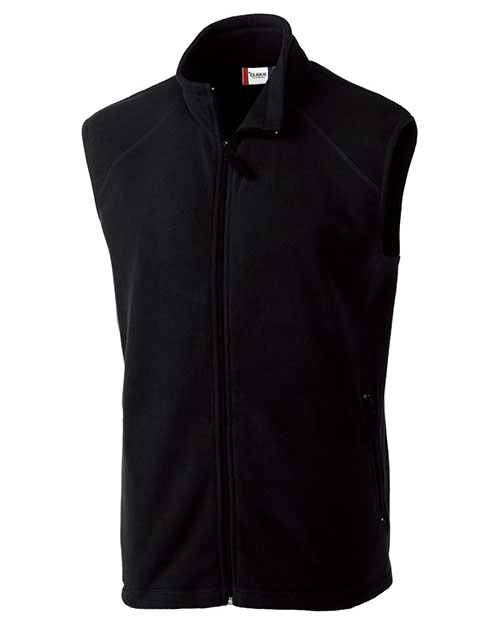 Summit Full Zip Microfleece Vest Black at bigntallapparel