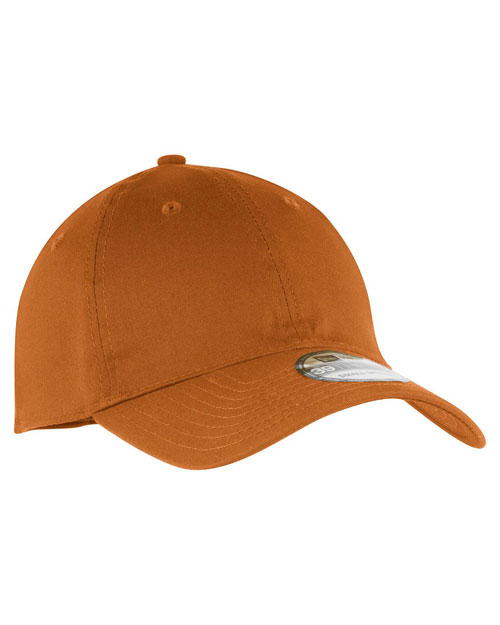 New Era NE1010  ®  - Unstructured Stretch Cotton Cap.   Burnt Orange at bigntallapparel