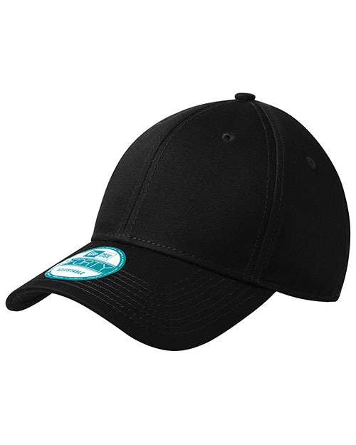 New Era NE200  Mens Adjustable Structured Cap Black at bigntallapparel