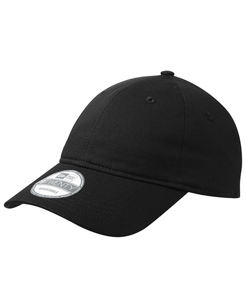 New Era NE201   Adjustable Unstructured Cap Black at bigntallapparel