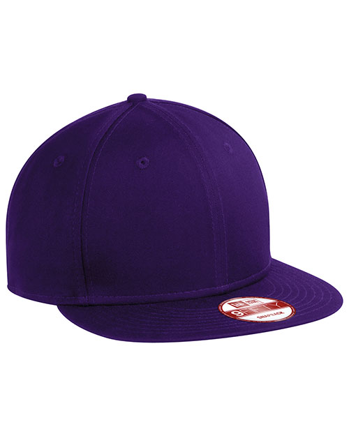 New Era NE400   Flat Bill Adjustable Cap Purple at bigntallapparel