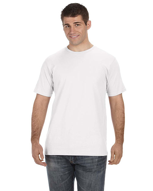 Anvil OR420 Men's 5 oz., 100% Organic Cotton T-Shirt WHITE at bigntallapparel