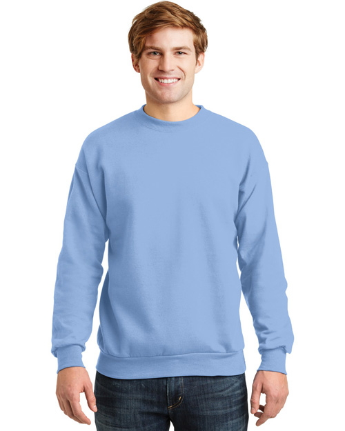 Hanes P160 Mens Comfortblend Crewneck SweatShirt Light Blue at bigntallapparel