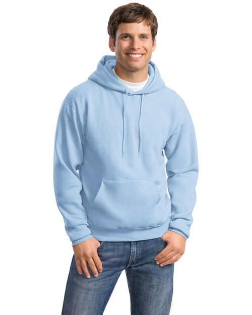 Hanes P170 Mens Comfortblend Pullover Hooded SweatShirt Light Blue at bigntallapparel