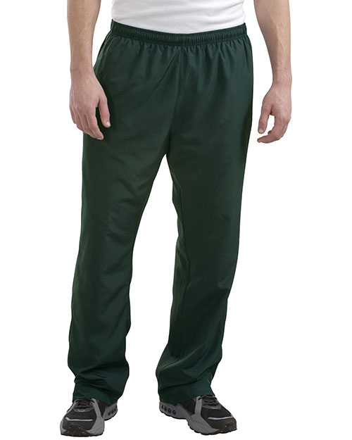 Sport-Tek P712 Mens 5 In 1 Performance Straight Leg WarmUp Pant Dark Green at bigntallapparel