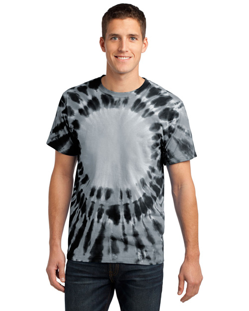Port & Company PC149 Men Essential Window Tiedye Tee Black at bigntallapparel