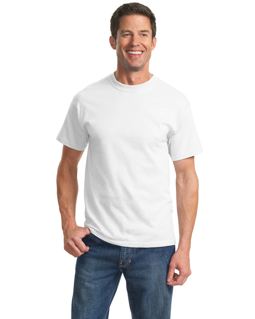 Port & Company PC61T Men 100% Cotton Essential T Shirt White at bigntallapparel